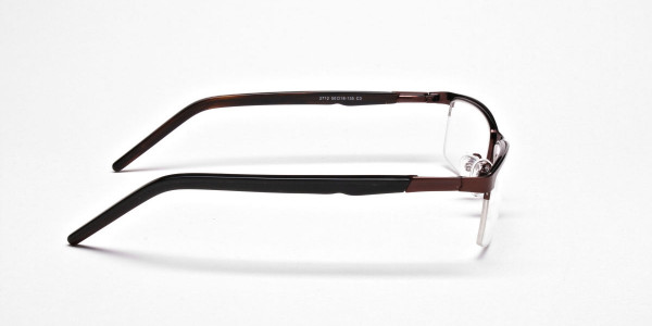 Rectangular Glasses in Brown, Eyeglasses -4