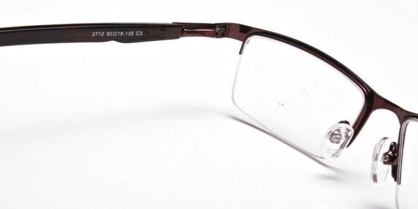 Rectangular Glasses in Brown, Eyeglasses -5