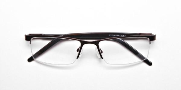 Rectangular Glasses in Brown, Eyeglasses -6