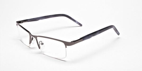 Rectangular Glasses in Gunmetal, Eyeglasses -3