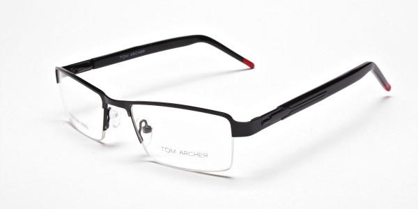 Rectangular Glasses in Black, Eyeglasses -3