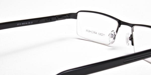 Rectangular Glasses in Black, Eyeglasses -5