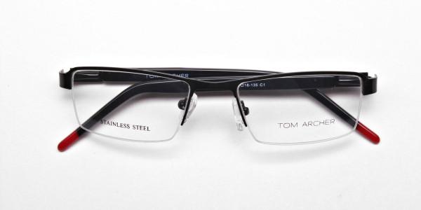 Rectangular Glasses in Black, Eyeglasses -6