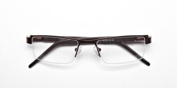 Brown Rectangular Glasses, Eyeglasses - 6