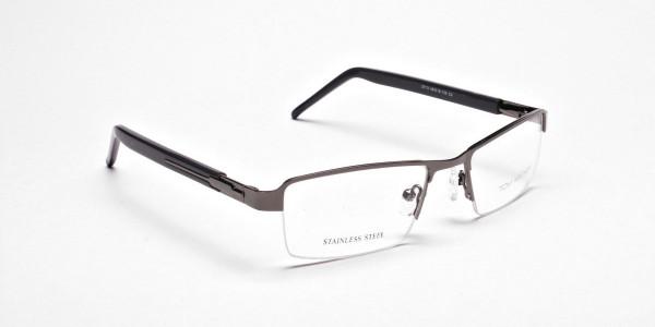 Gunmetal Rectangular Glasses, Eyeglasses -2