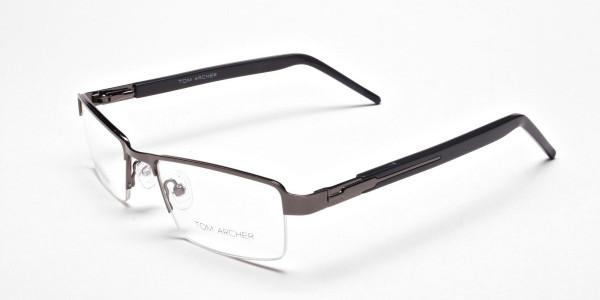 Gunmetal Rectangular Glasses, Eyeglasses -3