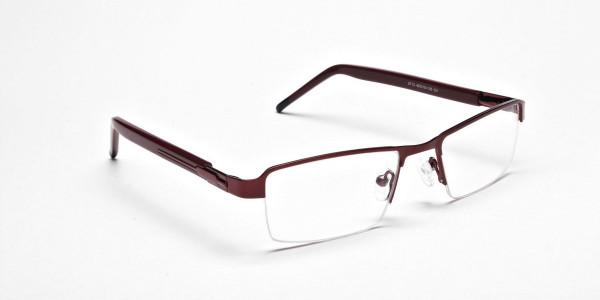 Red Rectangular Glasses, Eyeglasses -2
