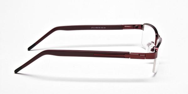 Red Rectangular Glasses, Eyeglasses -4