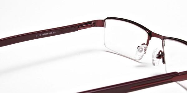 Red Rectangular Glasses, Eyeglasses -5