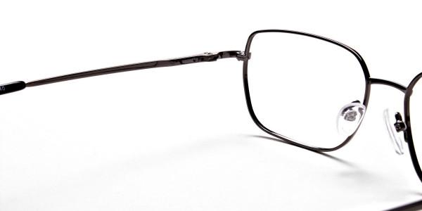 Rectangular Eyeglasses in Gunmetal, Eyeglasses - 6