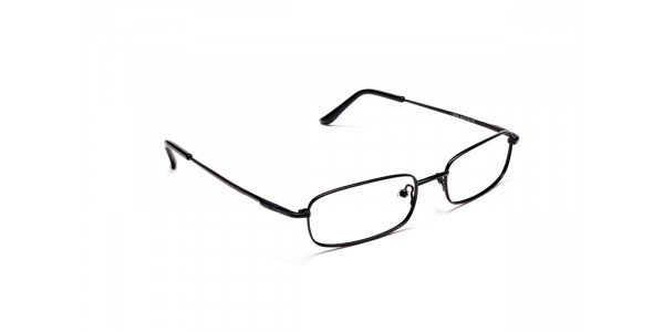 Rectangular Eyeglasses in Brown, Eyeglasses - 2