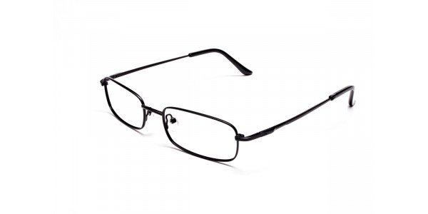 Rectangular Eyeglasses in Brown, Eyeglasses - 3