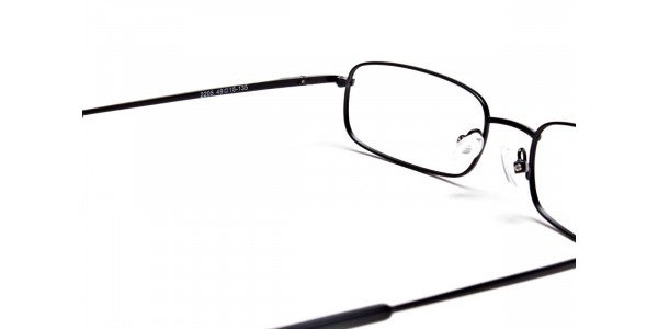 Rectangular Eyeglasses in Brown, Eyeglasses - 5