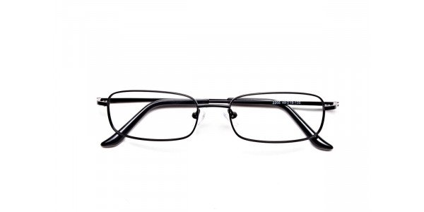 Rectangular Eyeglasses in Brown, Eyeglasses - 6