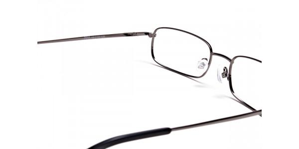 Rectangular Eyeglasses in Gunmetal, Eyeglasses - 5