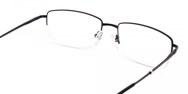 black-rectangular-metal-half-rim glasses-frames -5