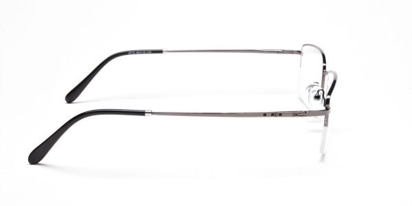 Gunmetal Half-Rim Frames - 4