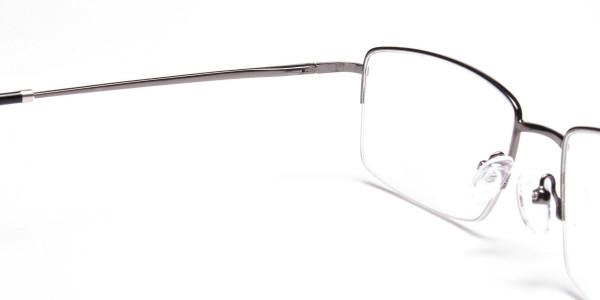 Gunmetal Half-Rim Frames - 5