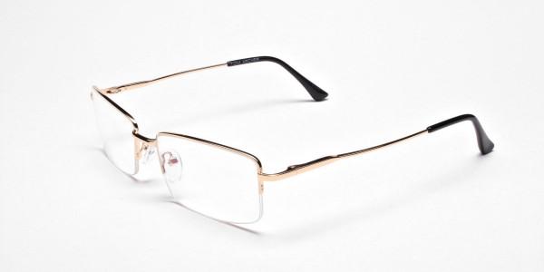 Gold Rectangular Glasses-3