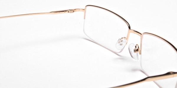 Gold Rectangular Glasses -5