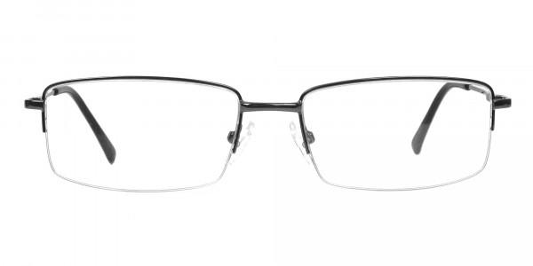Gunmetal Rectangular Glasses -1