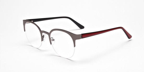 Browline Eyeglasses in Gunmetal, Eyeglasses - 3