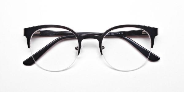 Browline Eyeglasses in Gunmetal, Eyeglasses - 6
