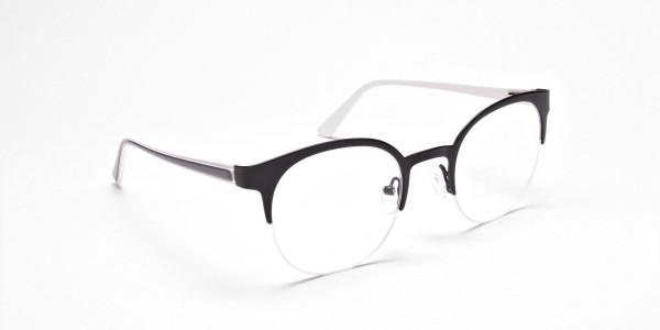 Browline Eyeglasses in Matte Black, Eyeglasses - 2