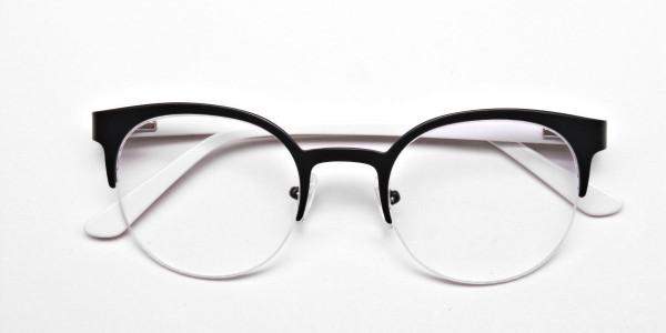 Browline Eyeglasses in Matte Black, Eyeglasses - 6