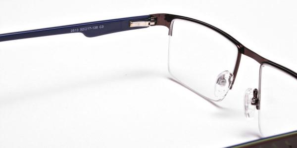 Rectangular brown Glasses, Eyeglasses -5