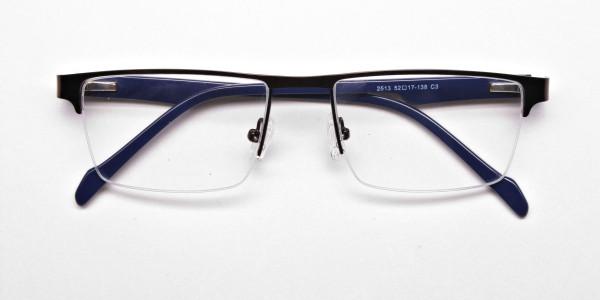 Rectangular brown Glasses, Eyeglasses -6