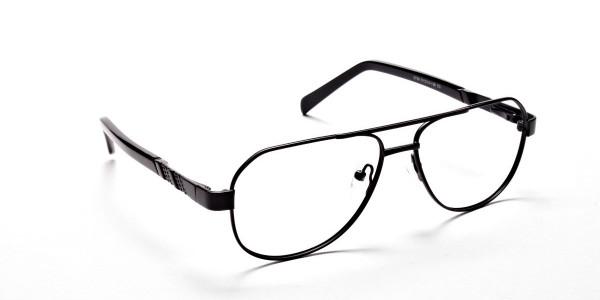 Black Aviator Glasses, Eyeglasses -2