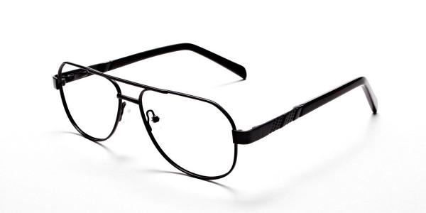 Black Aviator Glasses, Eyeglasses -3