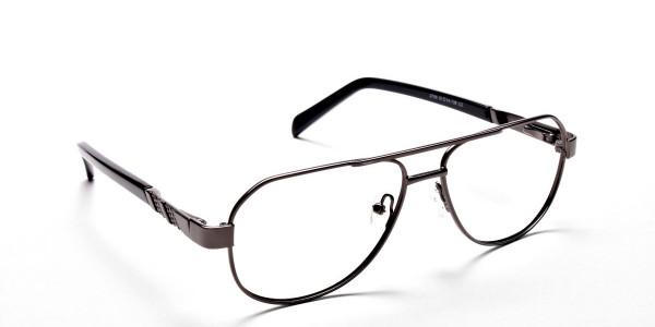 Gunmetal Aviator Glasses, Eyeglasses -2