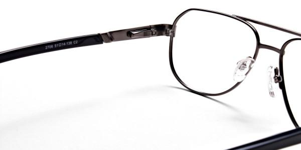 Gunmetal Aviator Glasses, Eyeglasses -5