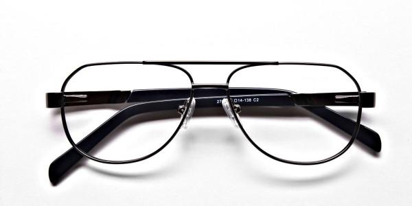 Gunmetal Aviator Glasses, Eyeglasses -6