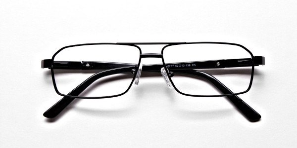 Black Rectangular Glasses, Eyeglasses -6