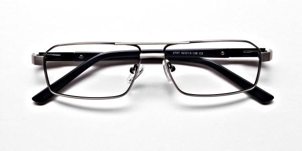Navy blue gunmetal glasses - 6