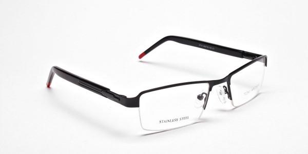 Rectangular Glasses in Black, Eyeglasses -2