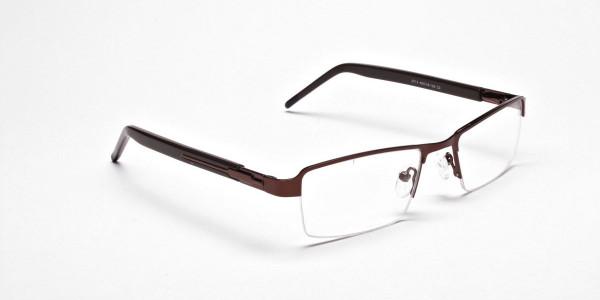 Brown Rectangular Glasses, Eyeglasses - 2