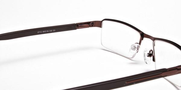 Brown Rectangular Glasses, Eyeglasses - 5