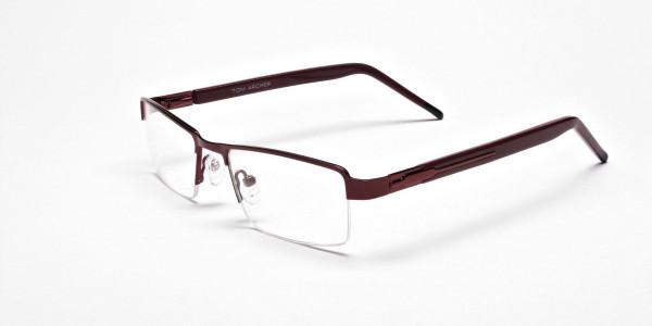 Red Rectangular Glasses, Eyeglasses -3