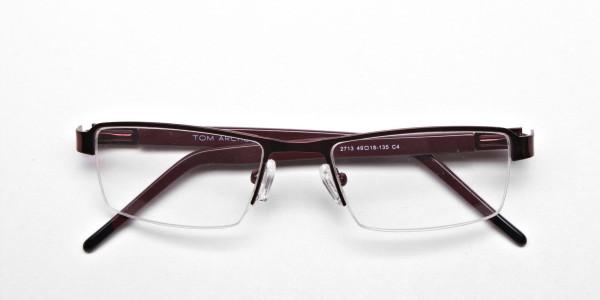 Red Rectangular Glasses, Eyeglasses -6