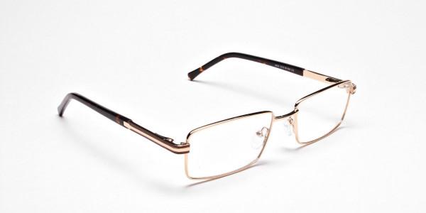 Rectangular Gold and Black Frames for Men & Women -2