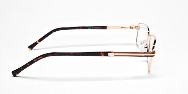 Rectangular Gold and Black Frames for Men & Women -4