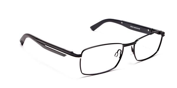 Black Matte Rectangular Glasses -2