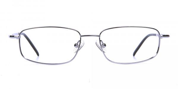 Rectangular Eyeglasses in Gunmetal, Eyeglasses - 1