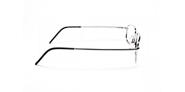 Rectangular Eyeglasses in Gunmetal, Eyeglasses - 4
