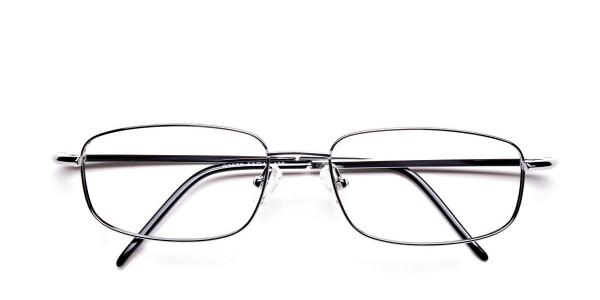 Silver Rectangular Eyeglasses Frame in Metal - 6