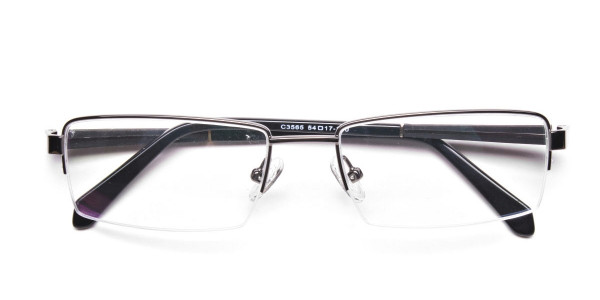 Gunmetal Rectangular Glasses, Eyeglasses -6